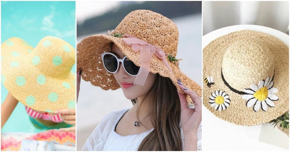Соломенная шляпка с декором: великолепный аксессуар на лето