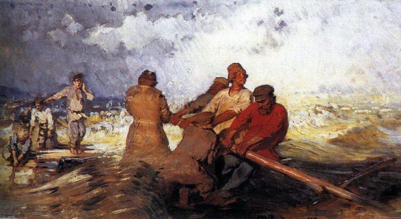 М. Гаричева. Шторм на Волге
