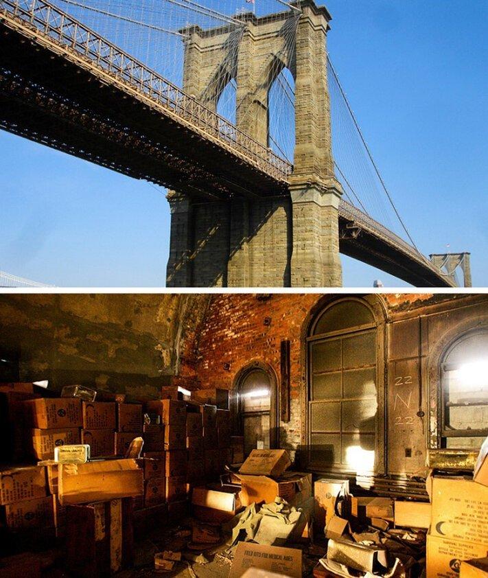 Бункер в Бруклинском мосту достопримечательности, тайны, это интересно