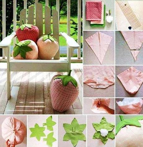 Для тех, кто шьет. Декоративные подушки-фрукты декор,женские хобби,Подушка,рукоделие,своими руками,шитье