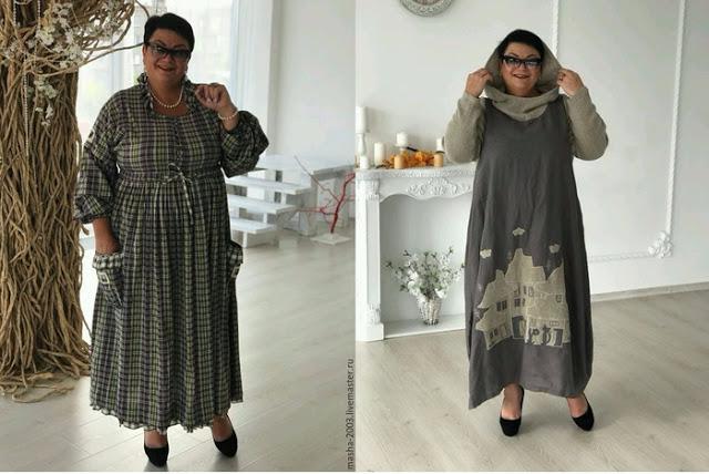 Одежда больших размеров...просто и стильно. Выкройки платья и жакета женские хобби,рукоделие,своими руками,шитье