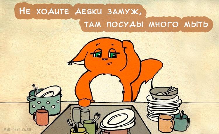 Прикольные картинки мойка посуды, осень золотая надписью