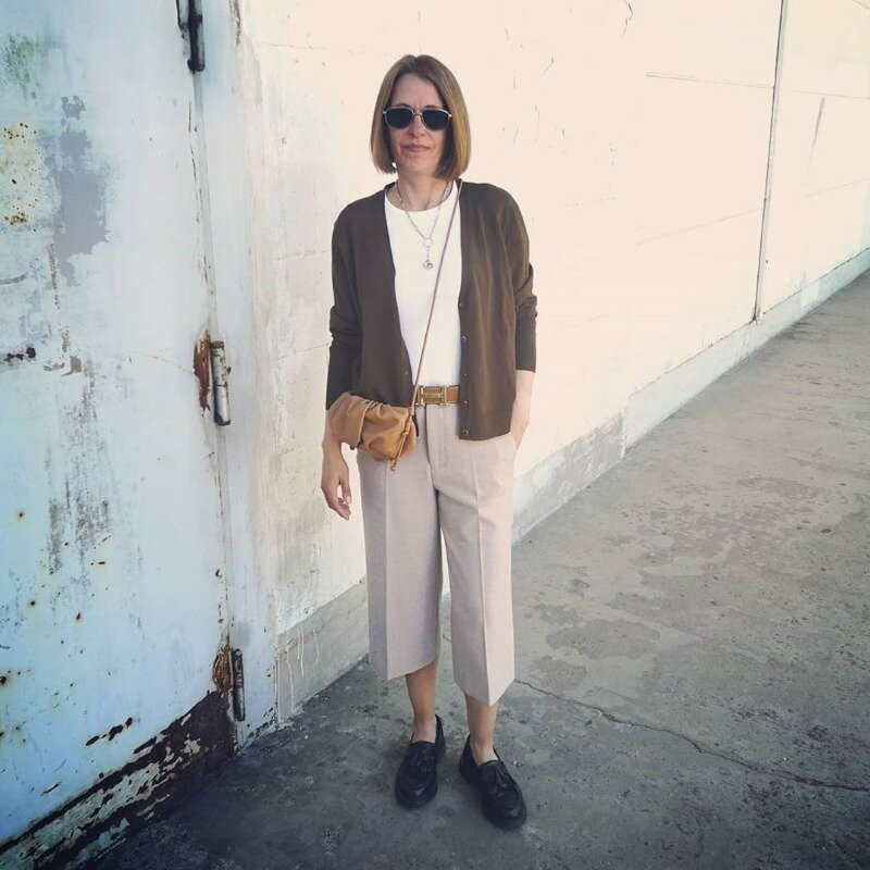 10 стильных образов с кюлотами для женщин старше 40