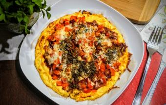 Диетическая пицца из цветной капусты