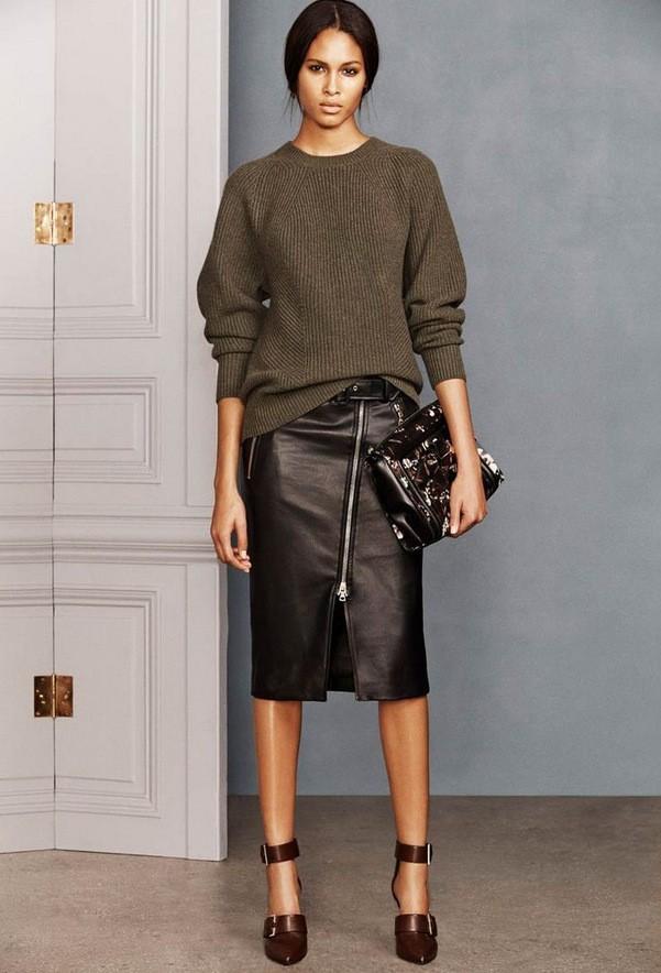 с чем носить юбку зимой мода