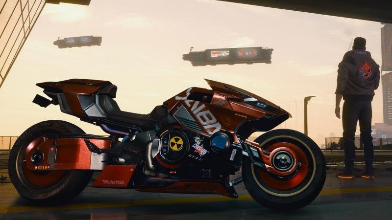 Фанат Cyberpunk 2077 изобразил мотоцикл из игры в реальной жизни cyberpunk 2077,Игры,фанатское