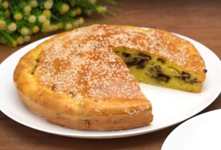 Вкуснейший пирог с грибами