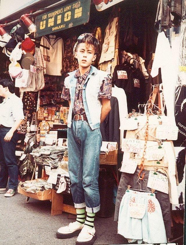 Японский модник, Токио, 1980-е. история, классика, фото