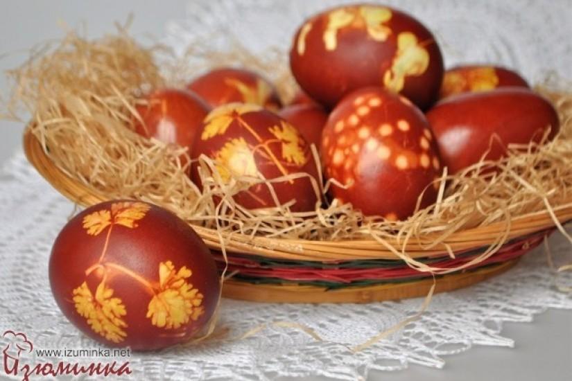Как красить яйца луковой шелухой - 10 простых шагов от Изюминки