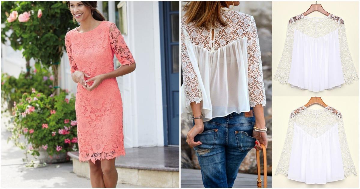 Секреты декорирования одежды кружевным полотном
