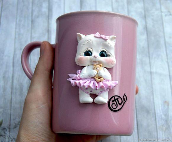 Декор чашек полимерной глиной декор чашек