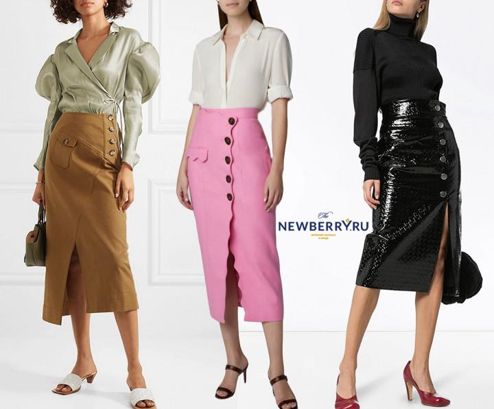 Выбираем юбку с разрезом спереди гардероб,дизайнеры,мода и красота,модные образы,одежда и аксессуары