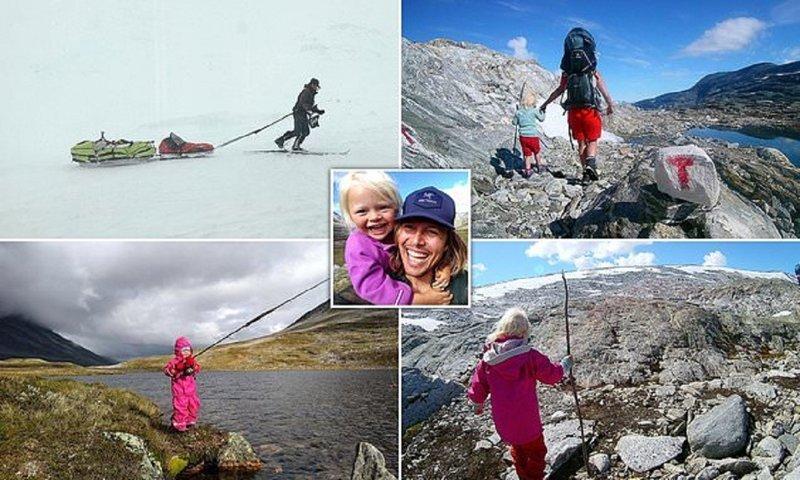 Норвежец с трехлетней дочерью совершил невероятное путешествие