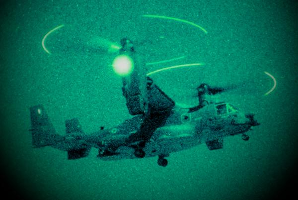 Конвертоплан спецназа США CV-22 Osprey в Сирии