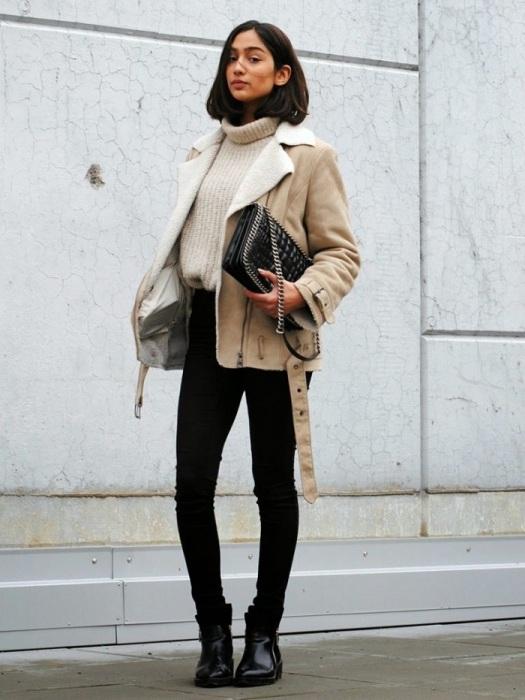 Тонкие дубленки не греют и выглядят плоско. / Фото: glamurnenko.ru