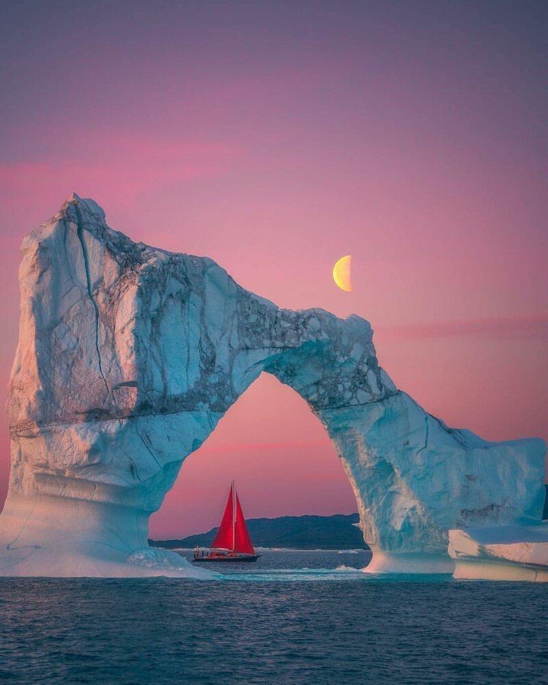 Алые паруса гренландия, подборка, природа, путешествия, север, удивительное