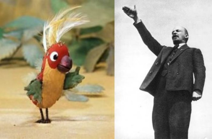 За кадром мультфильма «38 попугаев»: прототипом одного из персонажей был Ленин