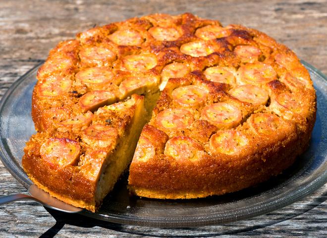Блюда на Масленицу: Банановый пирог