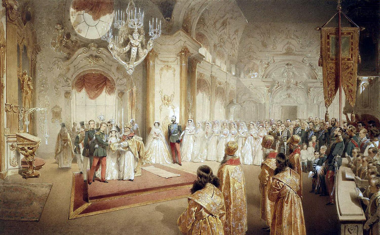 Mih C Aly Zichy Свадьба великого князя Александра Александровича будущего царя Александра III и Марии Федоровны