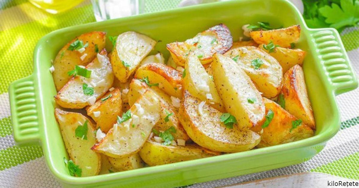 Картофель по-гречески: очень вкусно!