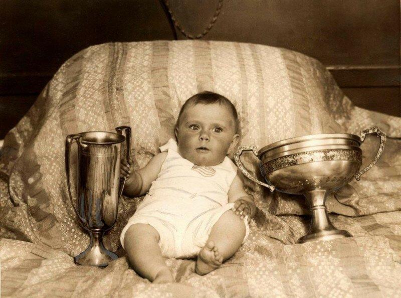 Марсия Пинкенфилд шести месяцев от роду, победила конкурсе и была выбрана самым красивым ребенком Америки, 1927 год история, ретро, фото