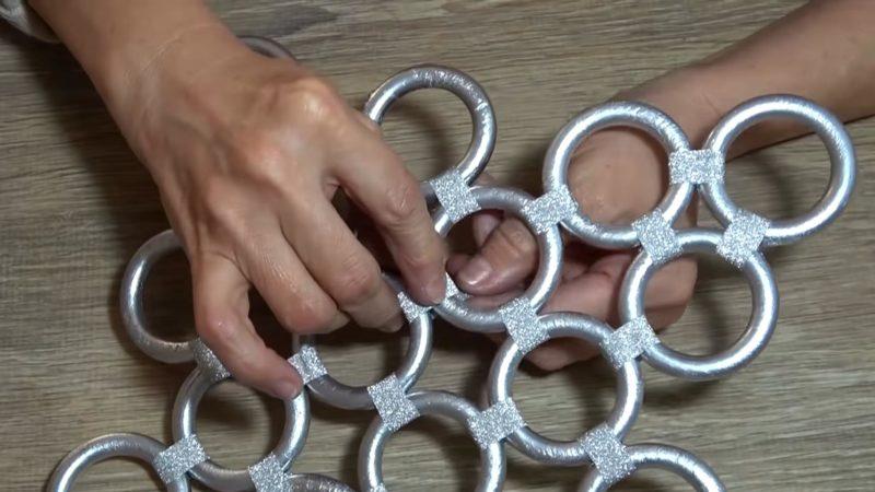 Кольца от штор — сокровище! Идеальная идея к Новому году интерьер,переделки,рукоделие,своими руками,сделай сам