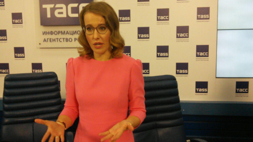 Видео дерзкого нападения на Собчак выложили в интернет