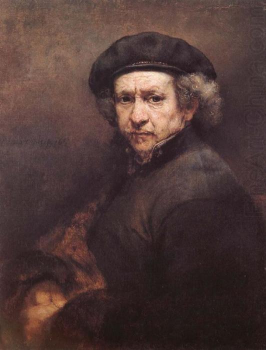 Автопортрет в берет и с поднятым воротником, 1659 год. \ Фото: chillroom.co.za.