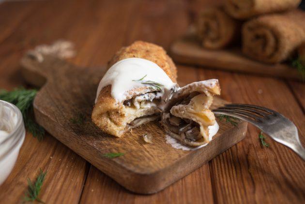 Оригинальная закуска: хрустящие крокеты из блинов блины,выпечка,кулинария