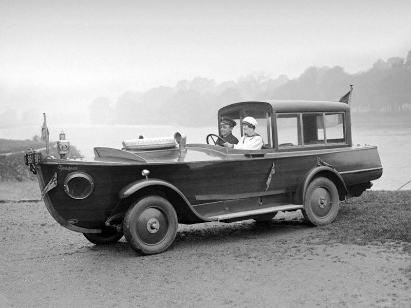 Амфибия Пежо, 1925 год история, ретро, фото