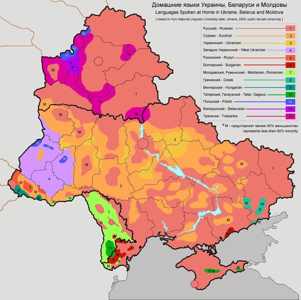 Сколько украинского языка на…