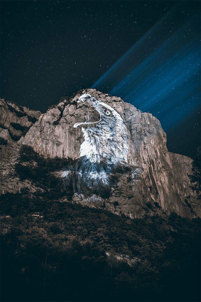 8. Орёл горы, животные, исчезновение, рисунки, спасение, художник