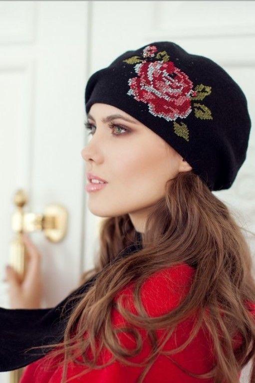 Необыкновенно нежные и жeнственные шапочки с цветами вдохновляемся,вязание
