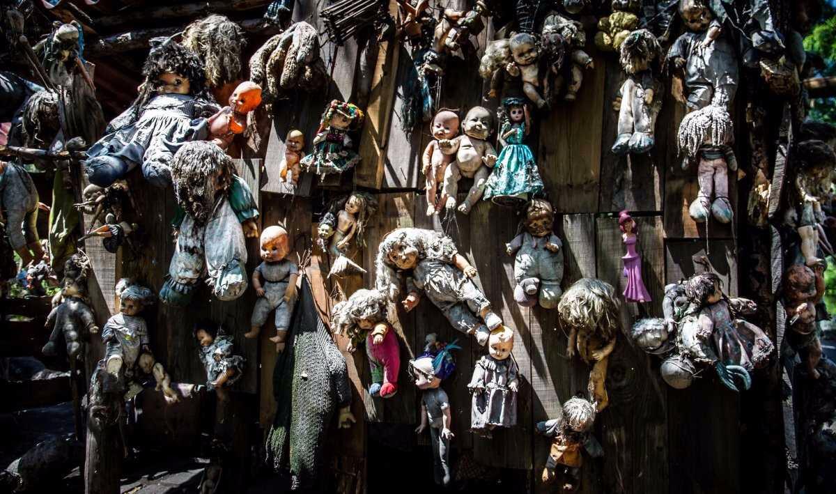 """Остров Кукол: """"ужастик"""" руками одного человека история,мексика,остров кукол,путешествия,сверхъестественное"""