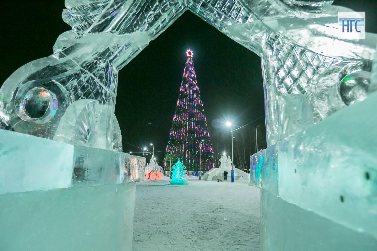 Красноярск зимний городок фото