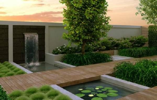 ландшафтный дизайн в стиле хай тек, фото 48