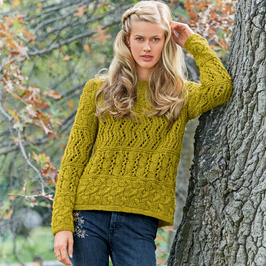 ВЯЖЕМ. Ажурный пуловер
