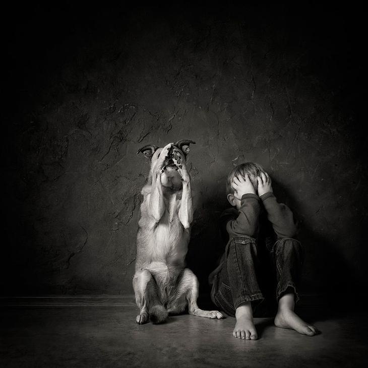Лучшие фотографии детей и животных с фотоконкурса «Children and animals»