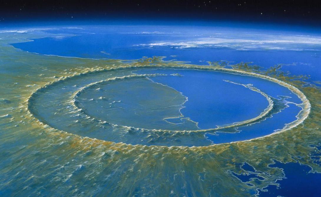 Гигантские воронки исполинских  метеоритов планеты