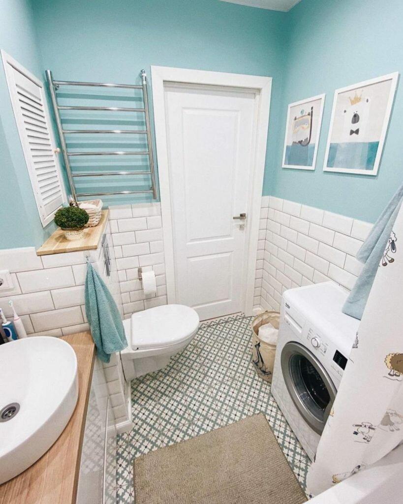 Солнечная квартира. Как семья с детьми со вкусом оформила свои 47 кв. м. без дизайнера идеи для дома,интерьер и дизайн