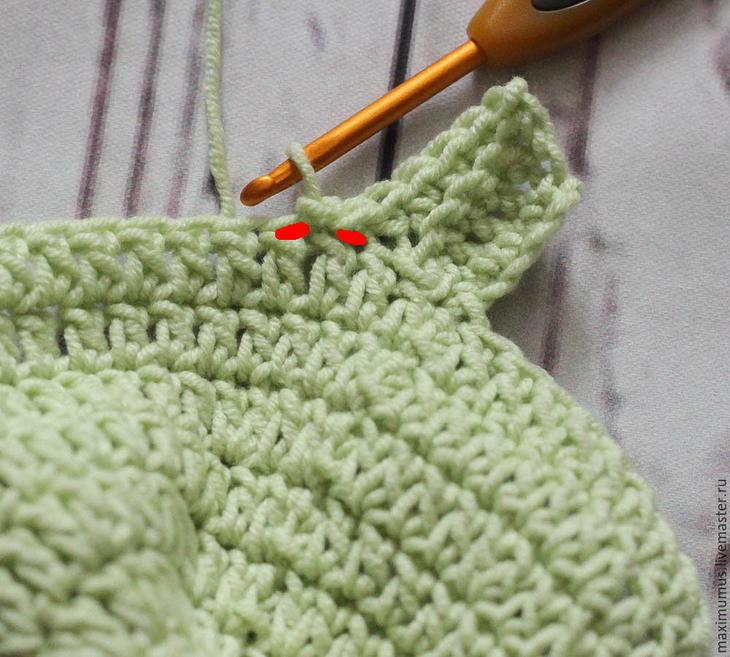 Вяжем крючком шапочку с удобными ушками
