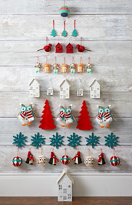 Настенные елки своими руками для дома и дачи,новогодний декор
