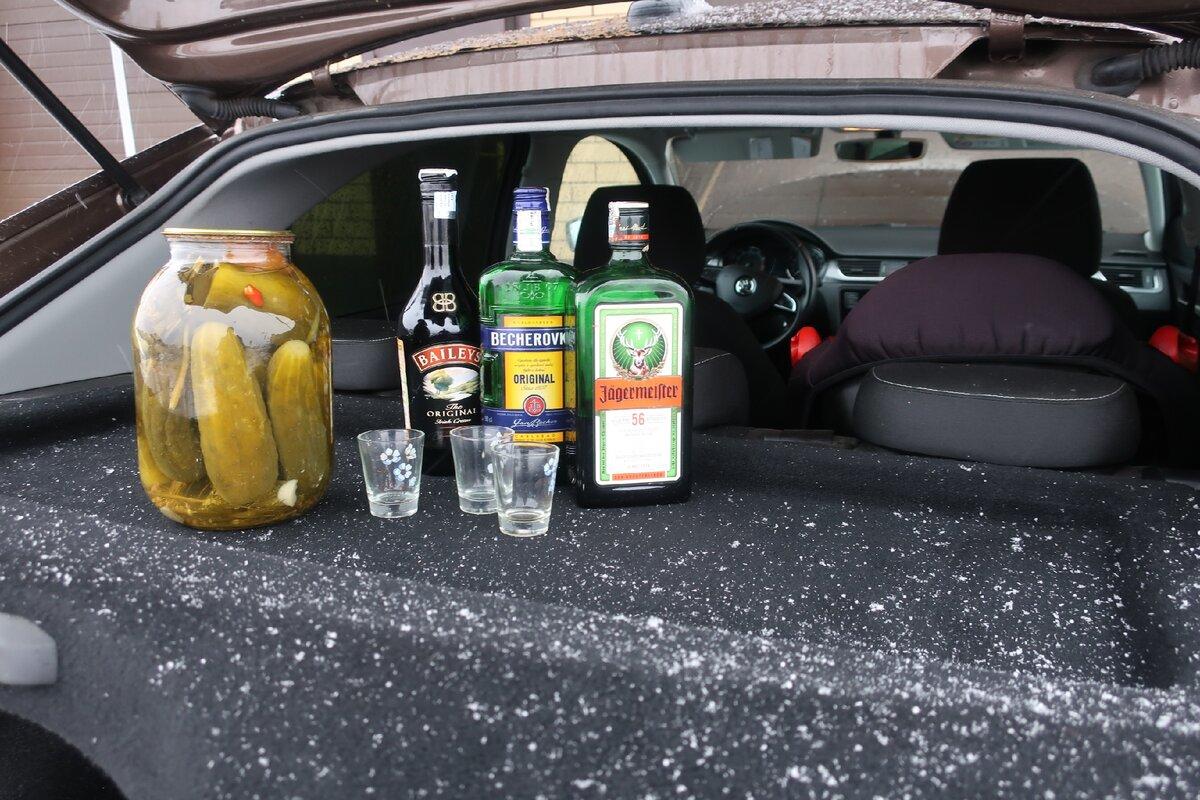 Можно ли распивать спиртное в припаркованном автомобиле