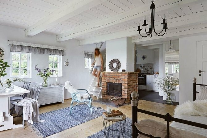Все мечтают именно о такой даче: деревянный светлый домик в Польше дача,загородный дома,идеи для дома,интерьер и дизайн
