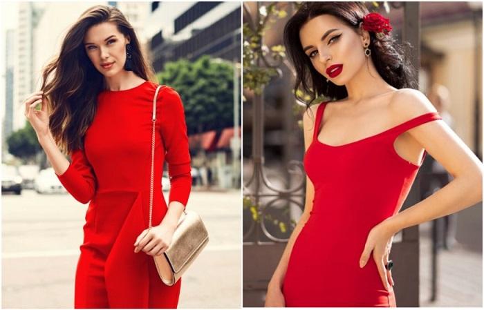 Красный - лучший вариант для создания сексуального и эффектного образа