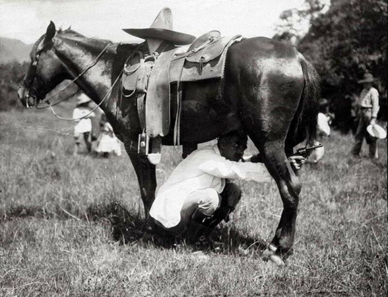 Тактическая хитрость солдат во время Мексиканской революции. 1913 год история, ретро, фото
