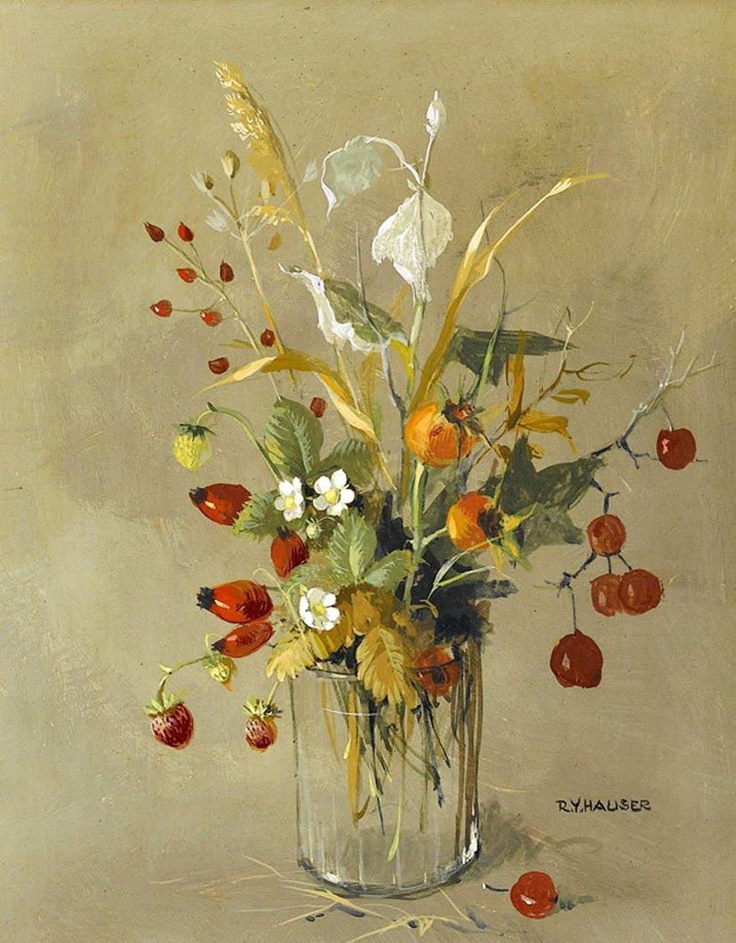 Есть особая прелесть в цветах полевых... Швейцарская художница Рене Йоланда Хаузер