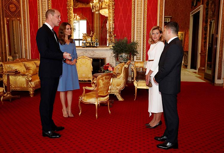 Кейт Миддлтон и принц Уильям приняли в Букингемском дворце Владимира и Елену Зеленских Монархи,Британские монархи