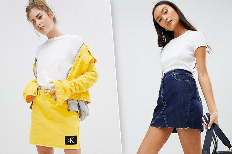 Модный деним: 8 крутых джинсовых юбок на весну