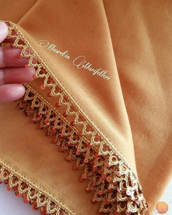 Роскошная обработка края изделия рукоделие,своими руками,сделай сам